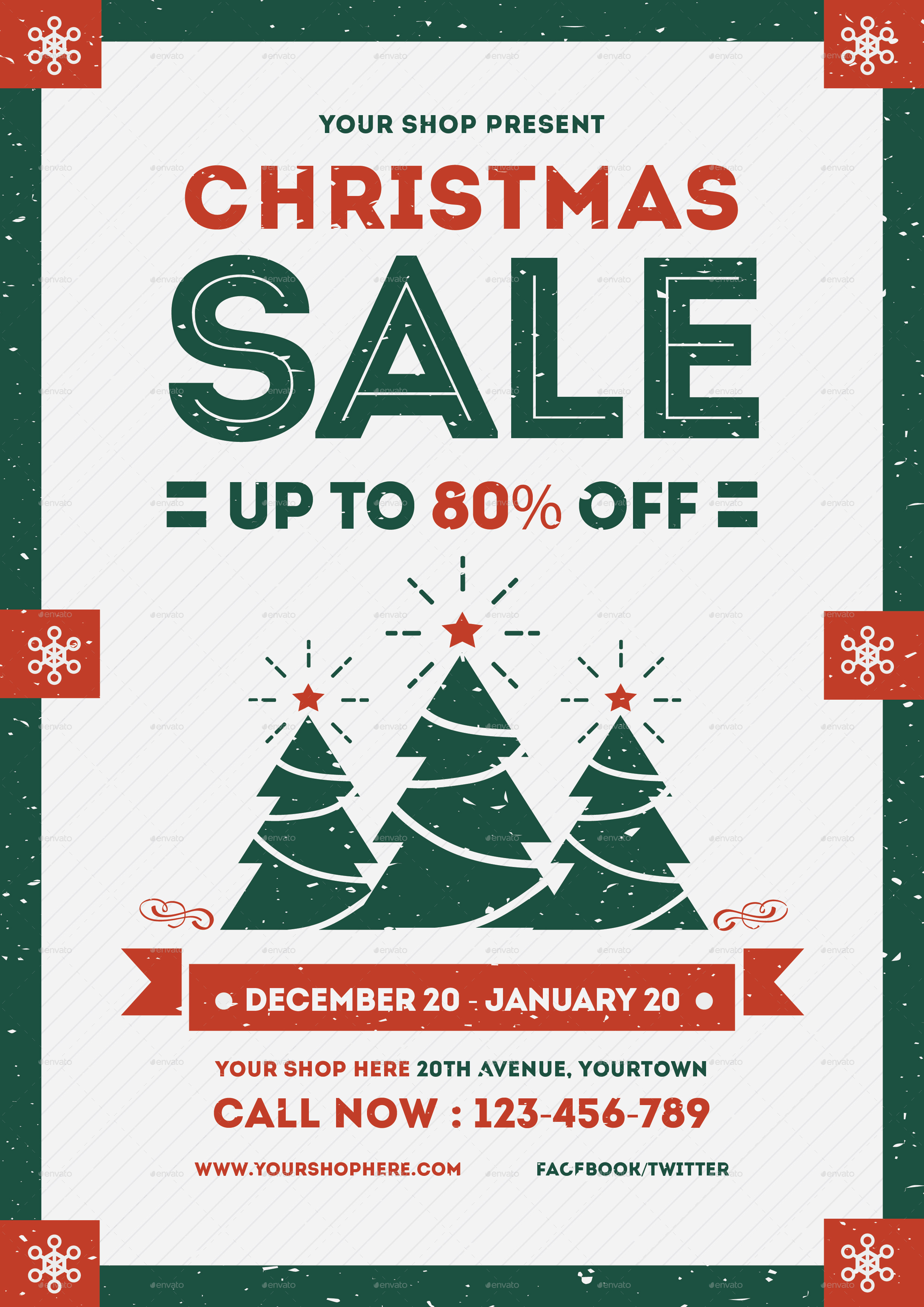 flyer christmas sale by lilynthesweetpea