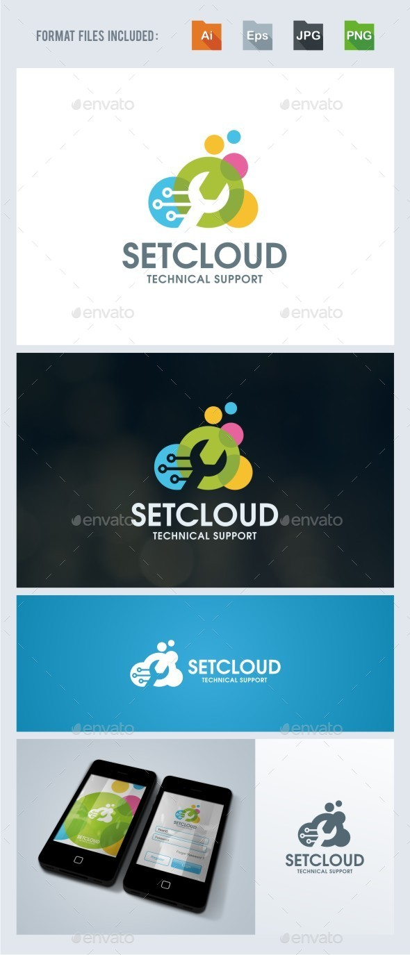 Cloud - Fixing Logo Template - Symbols Logo Templates