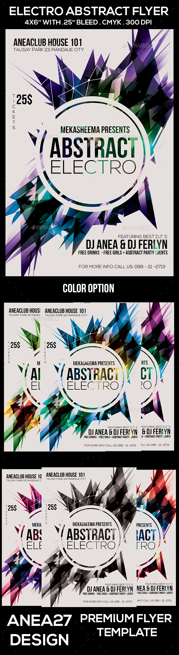 Electro Abstract Flyer - Clubs & Parties Events