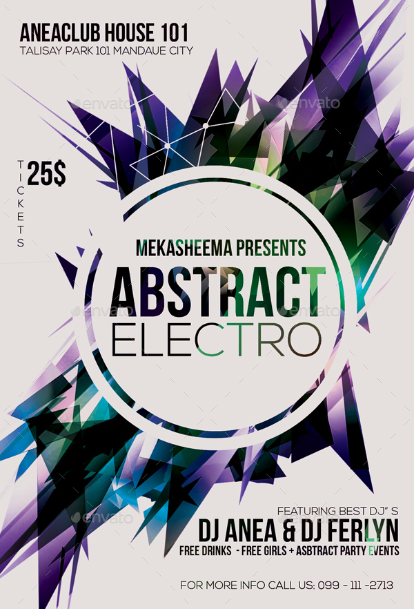 Electro Abstract Flyer by Anea27 | GraphicRiver