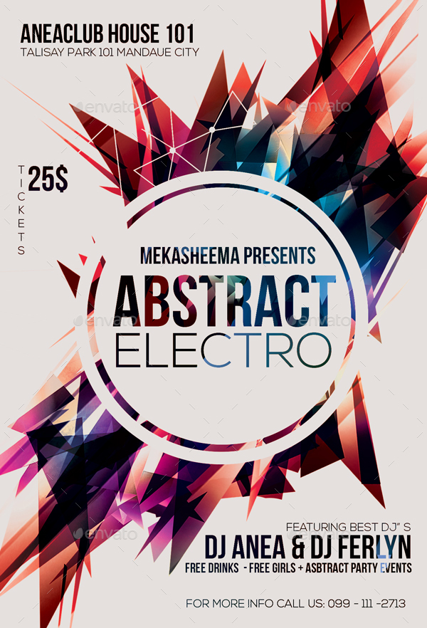 Electro Abstract Flyer By Anea  Graphicriver