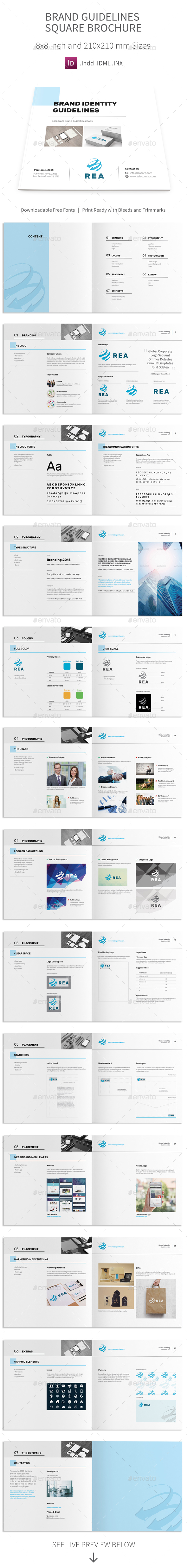 Brand Identity Guidelines Square Brochure - Informational Brochures
