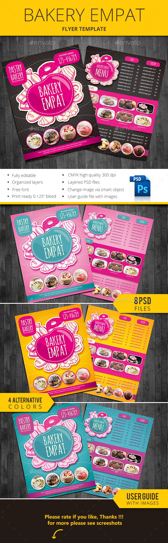 Bakery Empat - Flyers Print Templates