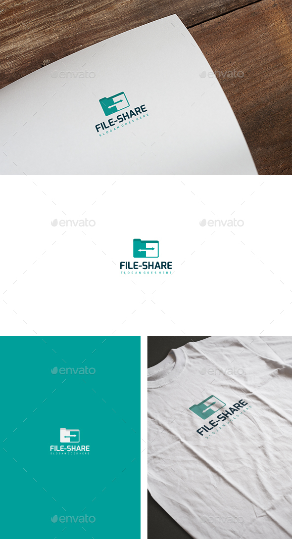 File Share Logo - Abstract Logo Templates