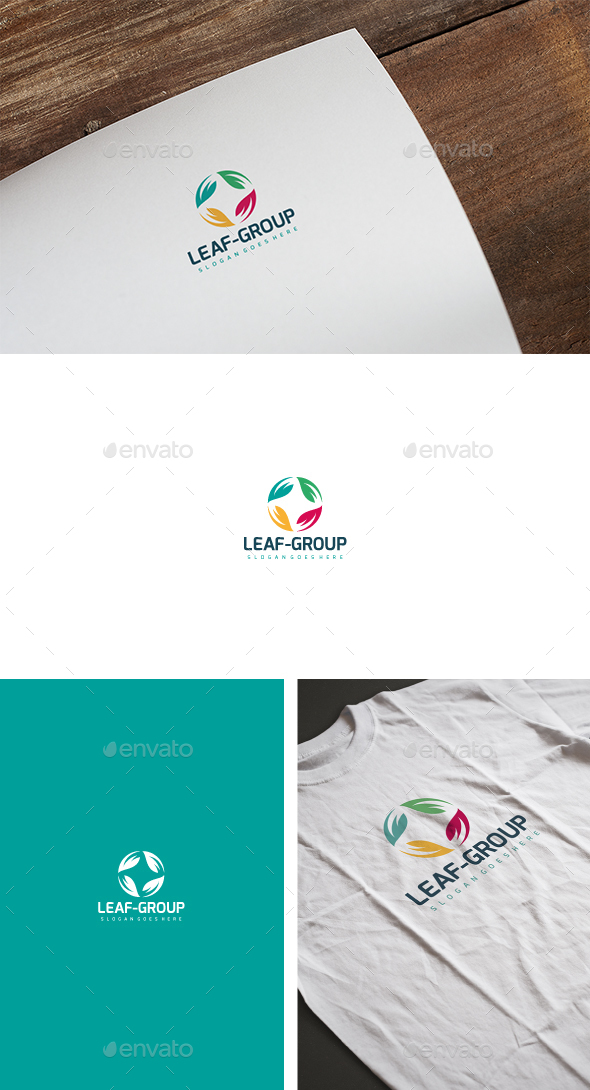 Leaf Group Logo - Nature Logo Templates