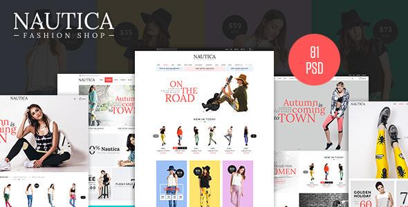 Nautica – Fashion eCommerce PSD Template