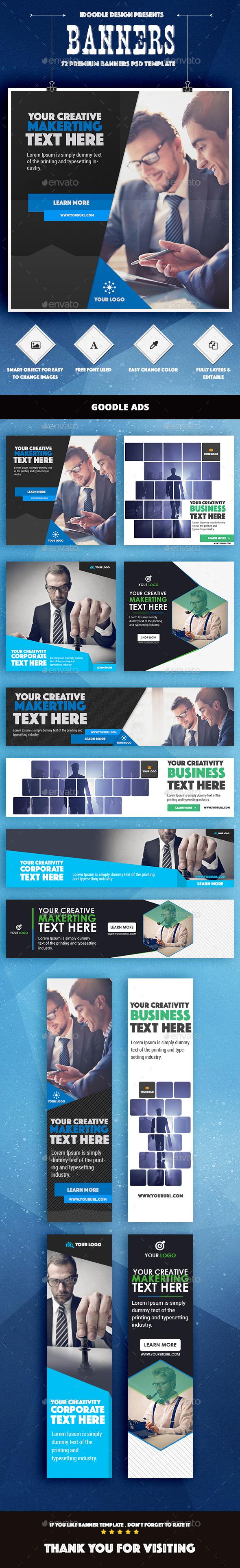 Bundle Multipurpose Banner Ad - Banners & Ads Web Elements