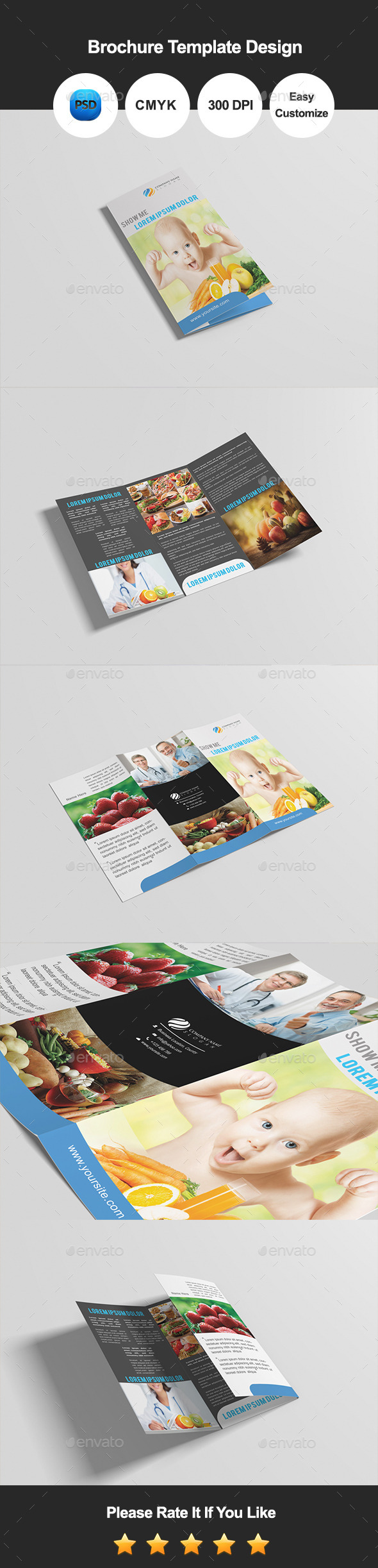 Nutrition Healthy Food & Restaurant Brochure - Corporate Brochures
