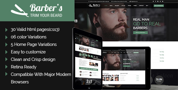 Barber – Html Template for Barbers and Hair Salon
