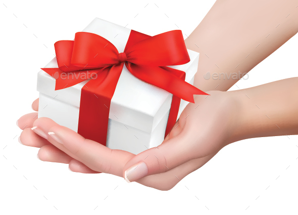 Gift Box in Hands - Christmas Seasons/Holidays