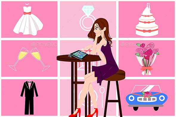 Woman Planning Her Wedding - Weddings Seasons/Holidays