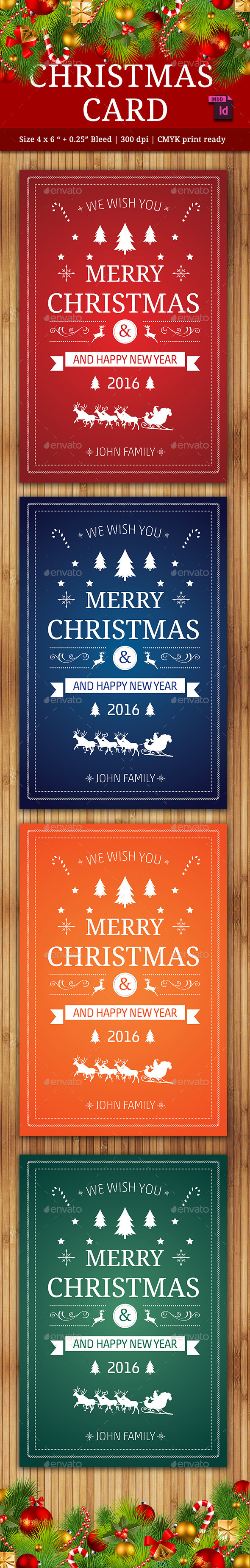 Christmas Card Vol. 2 - Cards & Invites Print Templates