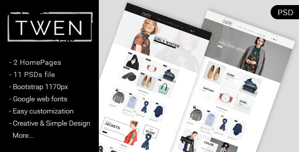 Twen – Ecommerce Fashion PSD Template