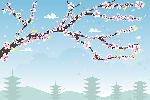 Cherry Blossom Background - Backgrounds Decorative