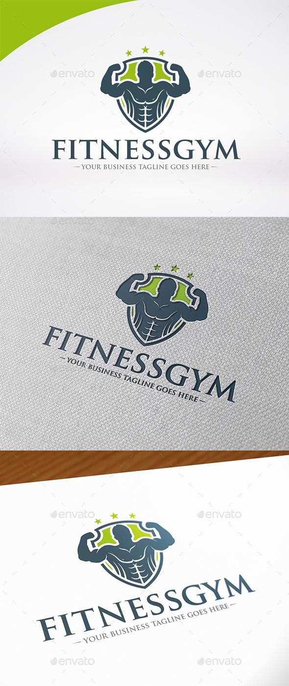 Fitness Gym Shield Logo - Humans Logo Templates