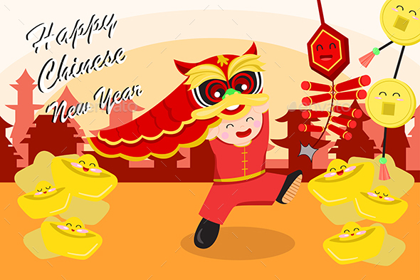Chinese New Year Greeting Card - Seasons/Holidays Conceptual