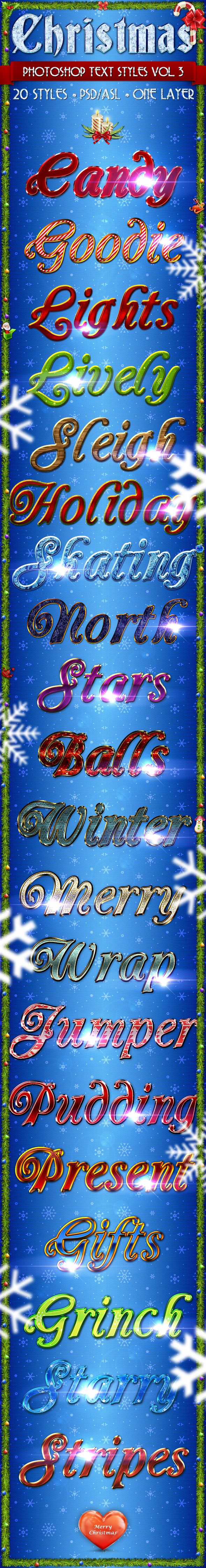 Christmas Vol. 3 - Text Styles - Text Effects Styles