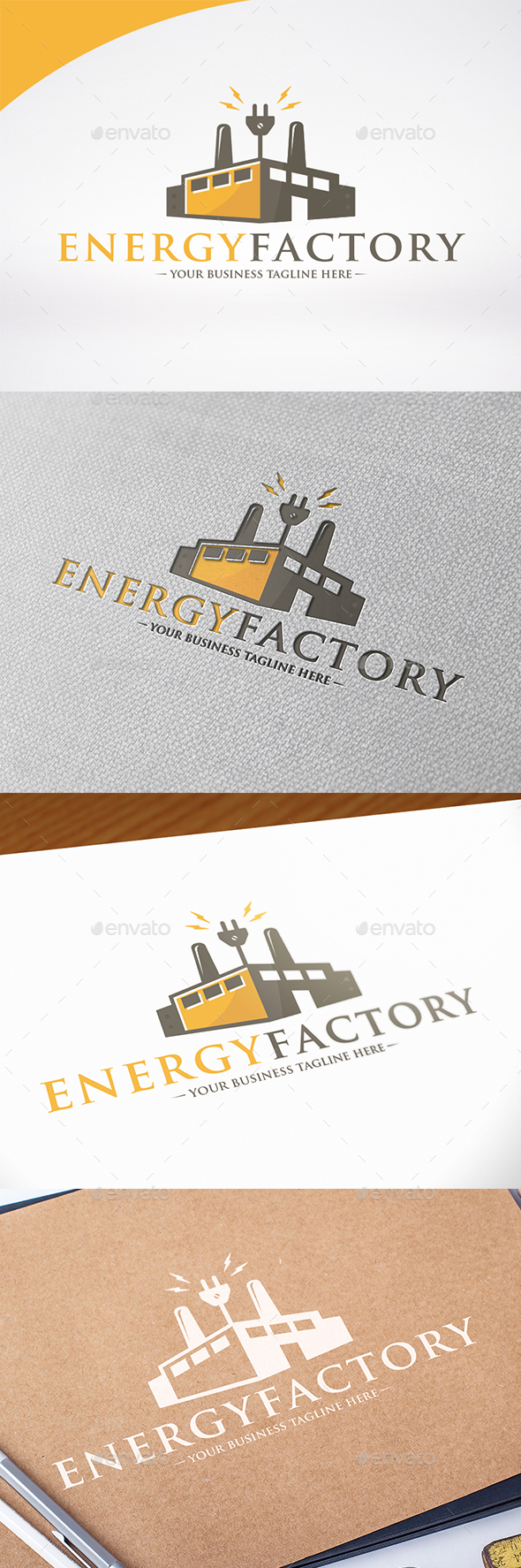 Electric Factory Logo Template - Buildings Logo Templates