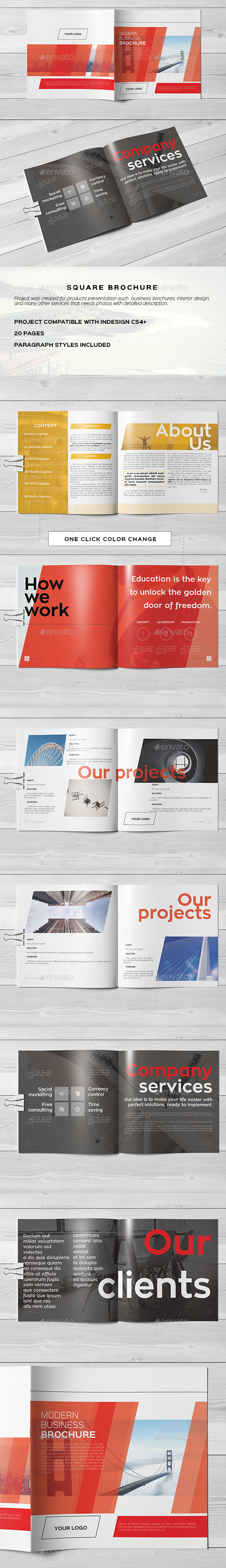 Square Modern Business Brochure - Corporate Brochures