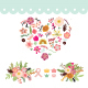 Love Floral Wedding Element - GraphicRiver Item for Sale