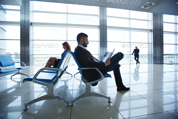 Agents at airport - Stock Photo - Images