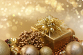 Gold Christmas decorations background - PhotoDune Item for Sale