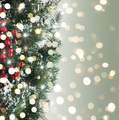 Christmas tree and bokeh lights - PhotoDune Item for Sale