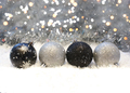 Silver and black Christmas decorations - PhotoDune Item for Sale