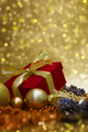 Gold Christmas gift background - PhotoDune Item for Sale