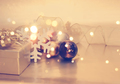 Christmas background with gift and decorations - PhotoDune Item for Sale