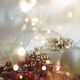 Christmas background with gift and decorations and bokeh lights - PhotoDune Item for Sale