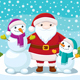 Cartoon Snowmen and Santa Claus - GraphicRiver Item for Sale