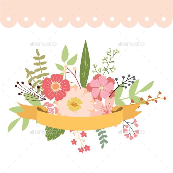Floral Frame Wedding Element - Decorative Symbols Decorative