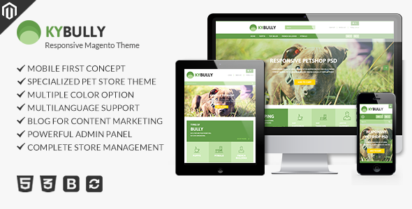 Kybully – Petstore Theme for Magento