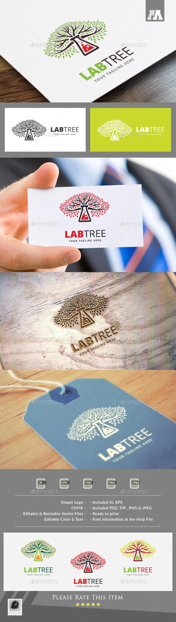Lab Tree Logo - Symbols Logo Templates