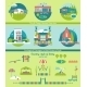 Ecological Cottages And Camp Houses Vector Set. - GraphicRiver Item for Sale