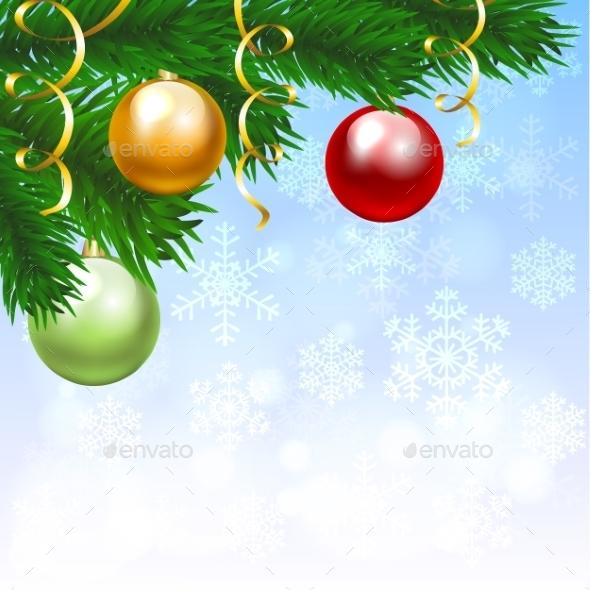 Silver Balls With Snowflakes Ornament - Christmas Seasons/Holidays