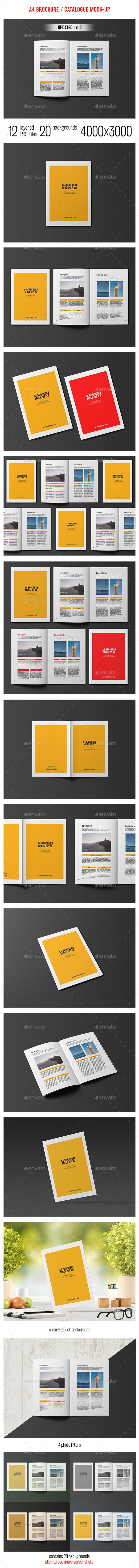 A4 Brochure / Catalogue Mockup - Brochures Print