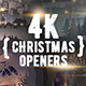 4K Christmas Openers/ Winter Tales 3D Snowflake/ Merry Christmas Happy New Year Snow Light Intro - VideoHive Item for Sale