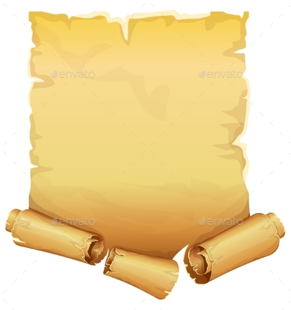 Big Golden Ribbon Scroll Of Parchment  - Backgrounds Decorative