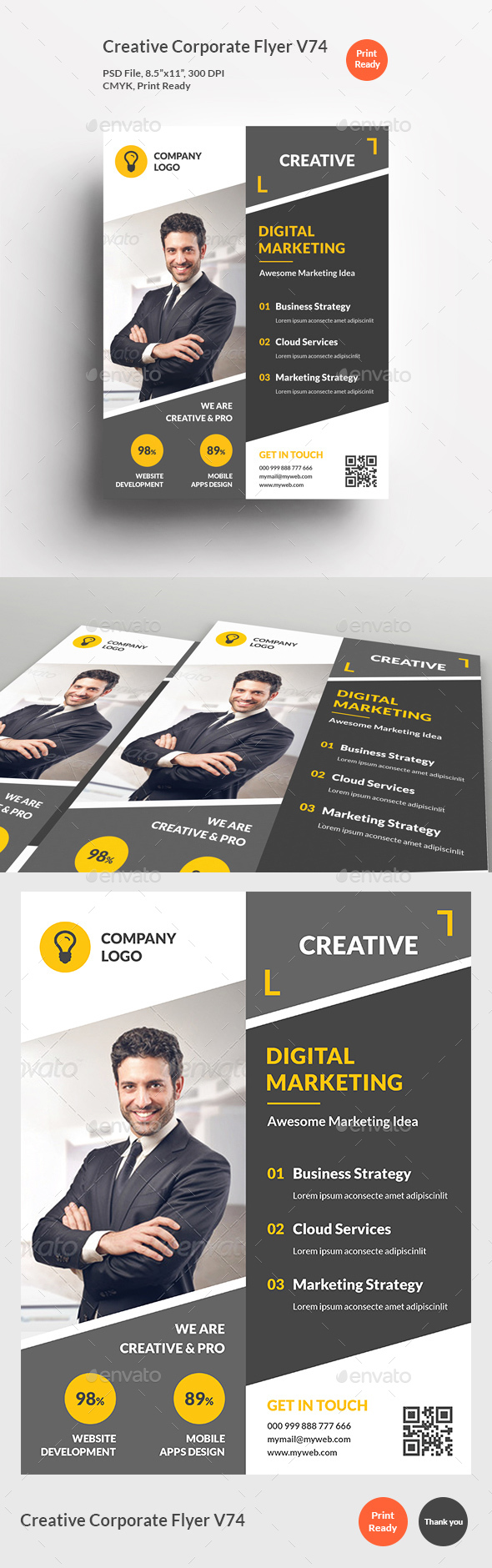Creative Corporate Flyer V74 - Corporate Flyers
