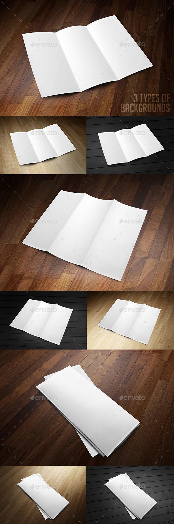 Realistic Brochure Mockup - Brochures Print