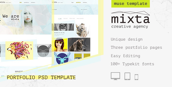 Mixta — Creative Agency, Portfolio Muse Template