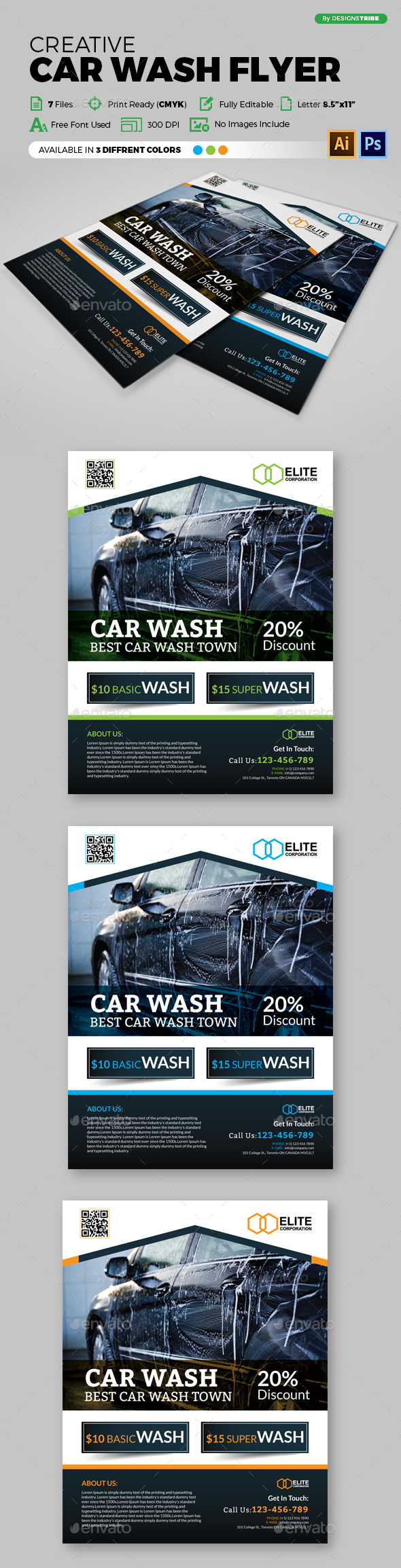 Car Wash Flyer - Flyers Print Templates