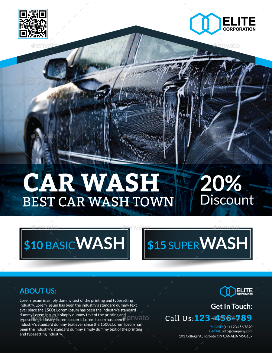 car wash flyer by arsalanhanif graphicriver. Black Bedroom Furniture Sets. Home Design Ideas