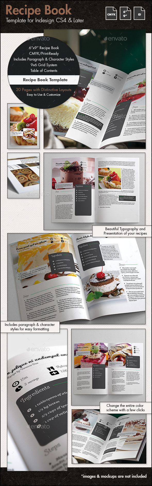 recipe book templates