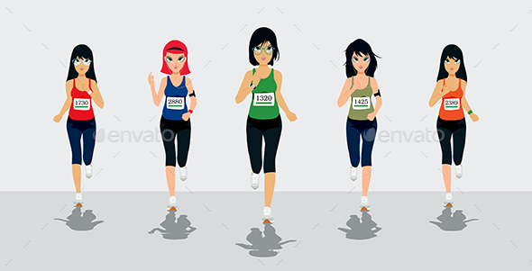 Female Runners - Sports/Activity Conceptual