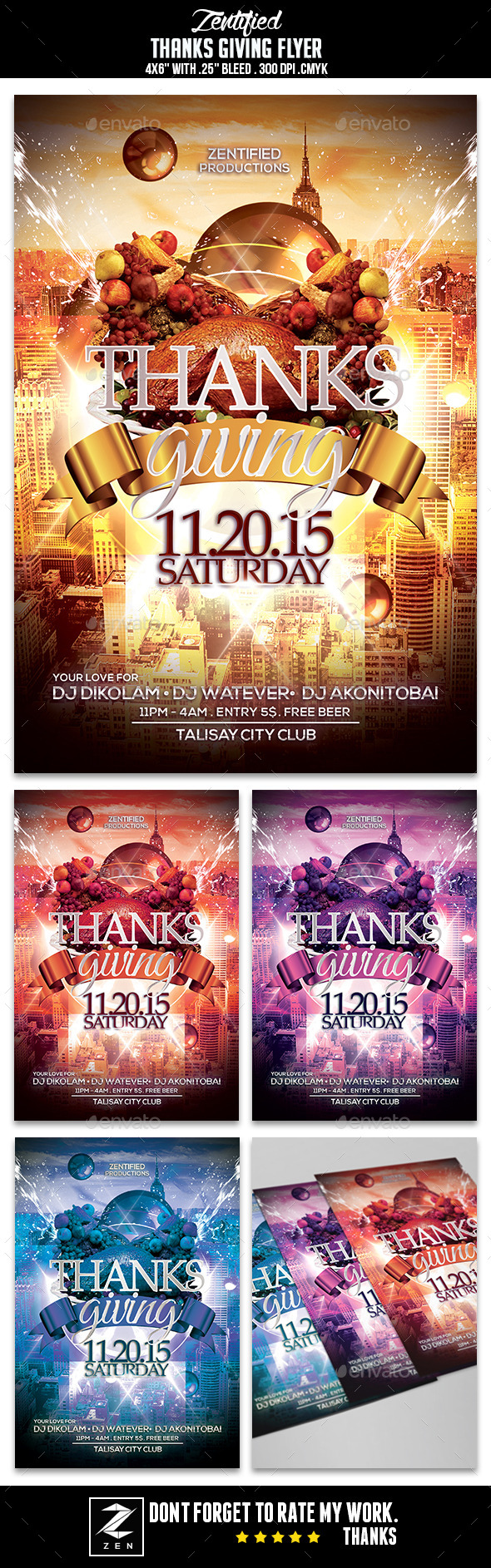 Thanks Giving Flyer - Events Flyers