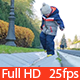 Kid Walking Along Border of a Road - VideoHive Item for Sale