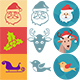 Christmas Colourful, popart and one colour iconset - GraphicRiver Item for Sale